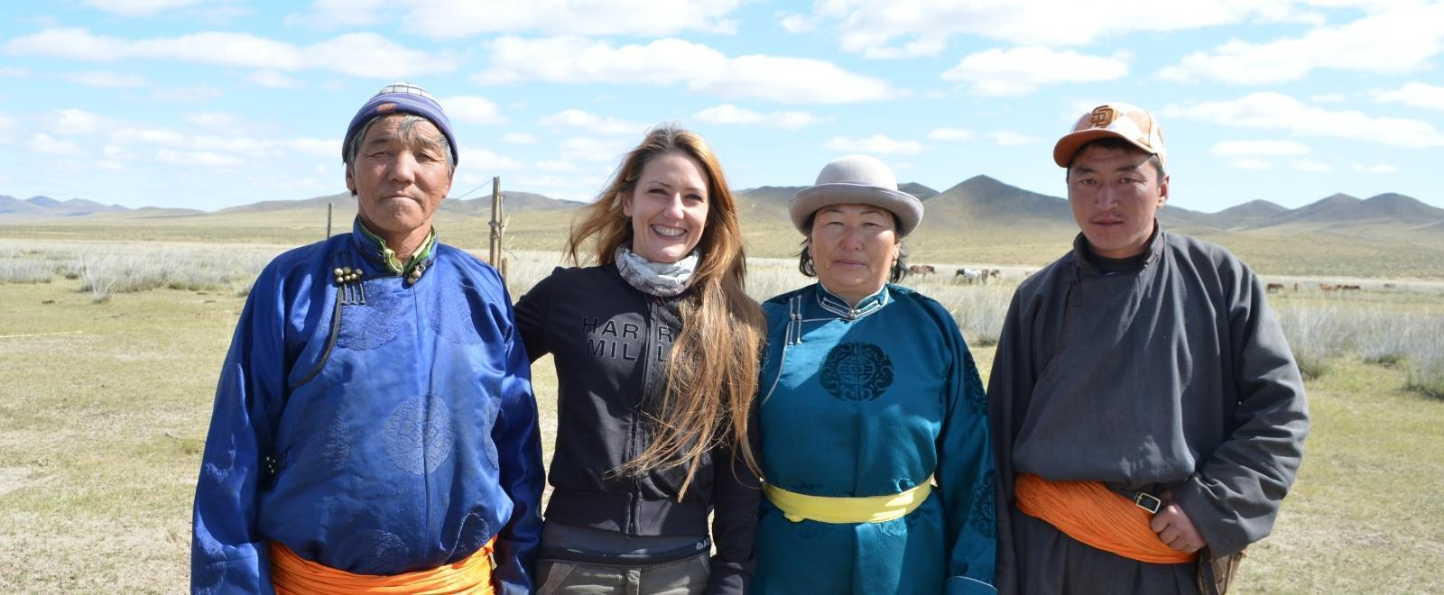 A Projects Abroad volunteer spends time at her host family accommodation while volunteering in Mongolia.